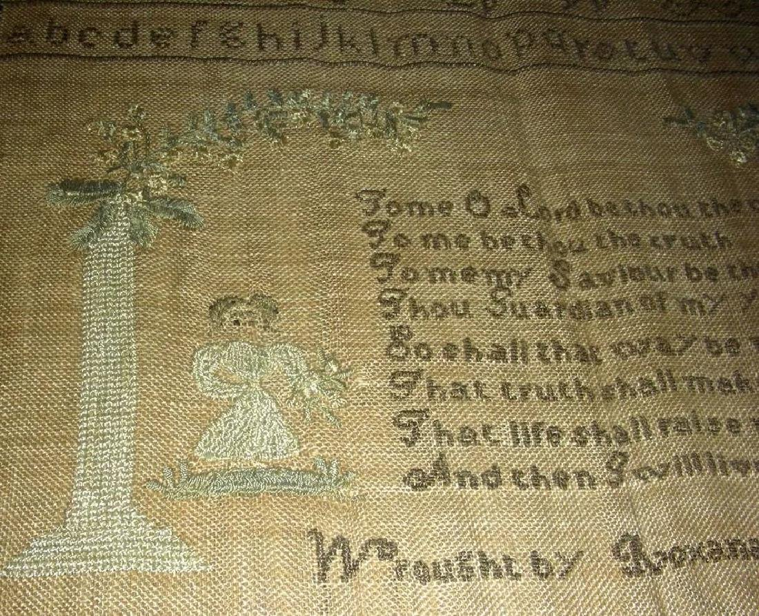 1830 American Needlework Sampler by Roxana Holmes - 6