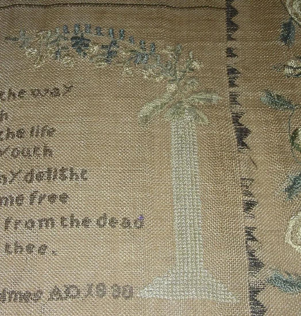 1830 American Needlework Sampler by Roxana Holmes - 9