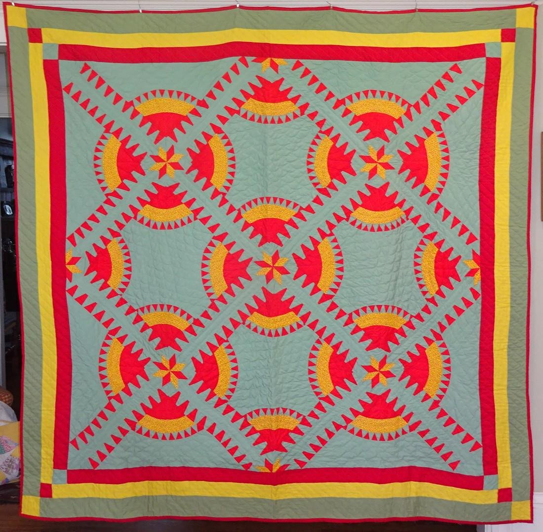 Vintage New York Beauty Quilt / aka Rocky Road