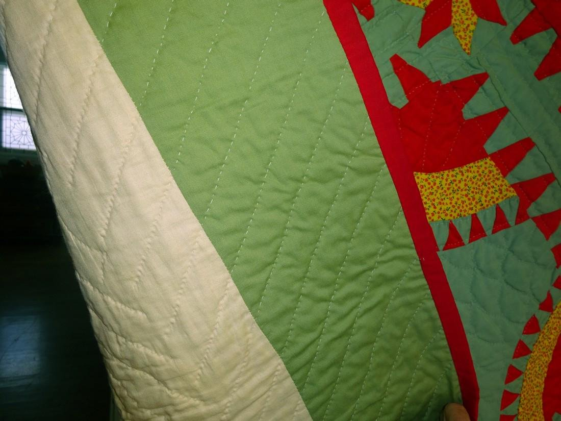 Vintage New York Beauty Quilt / aka Rocky Road - 3