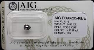 0.52 CTS Certified Natural Fancy Color Black Diamond-