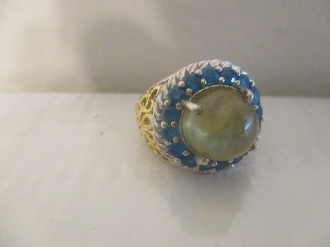 Cats Eye Apatite, Malgache Neon Apatite 14k YG and - 5