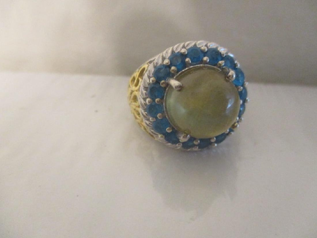 Cats Eye Apatite, Malgache Neon Apatite 14k YG and - 6