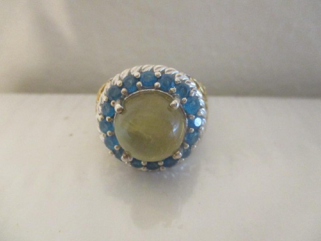 Cats Eye Apatite, Malgache Neon Apatite 14k YG and - 7