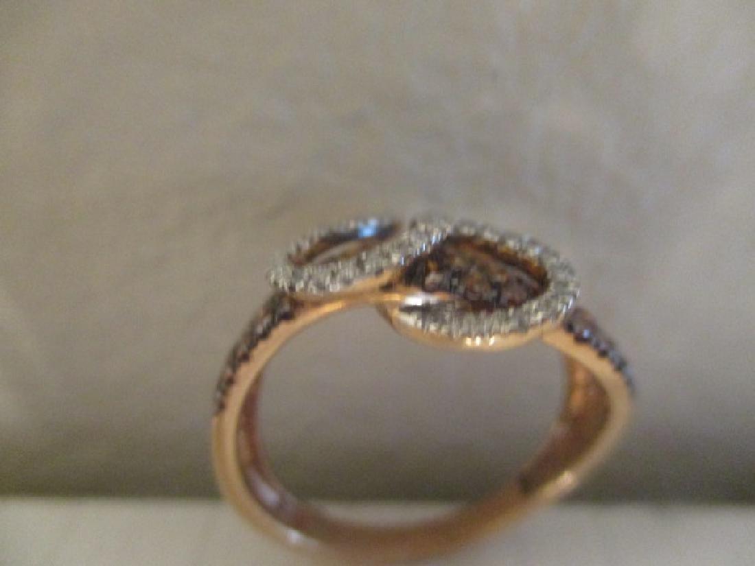 10K RG Cognac Diamond,Diamond