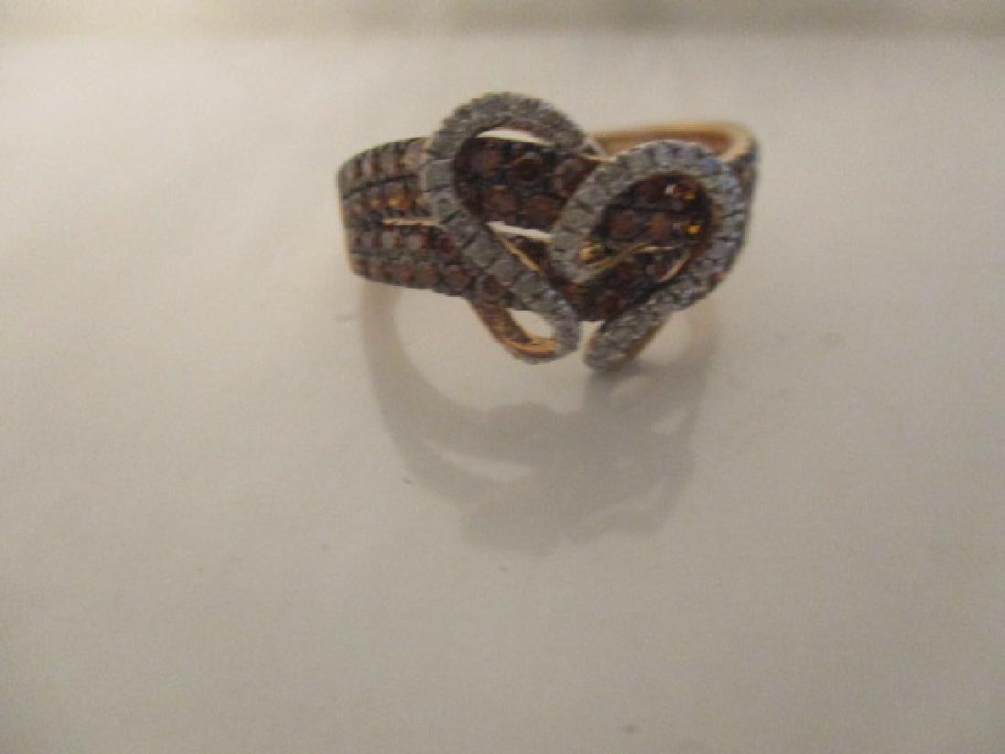 10K RG Cognac Diamond,Diamond - 4