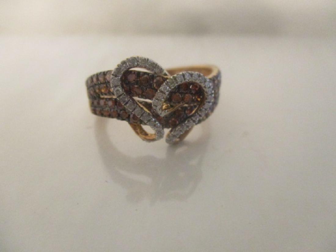10K RG Cognac Diamond,Diamond - 5