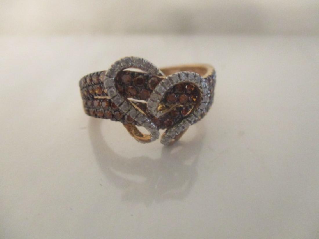 10K RG Cognac Diamond,Diamond - 6