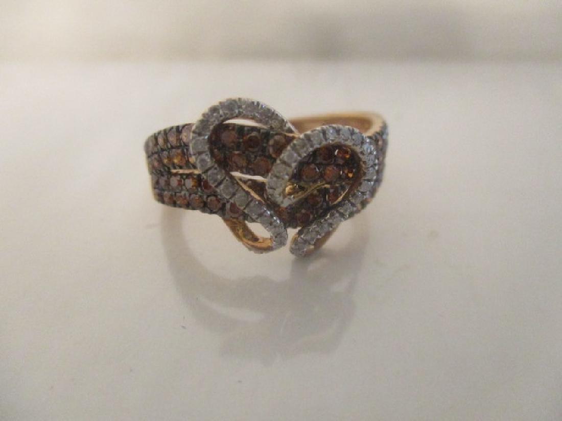 10K RG Cognac Diamond,Diamond - 7