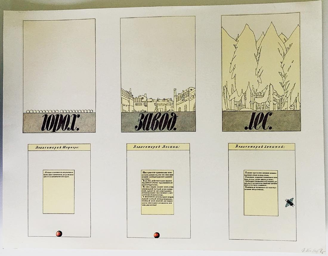 Ilya Kabakov Pages from Moskau portfolio 1990