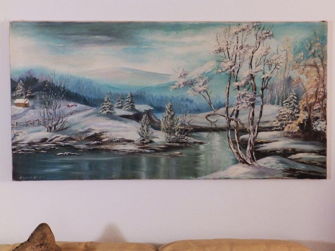 Mid Century FOOTHILL SNOWY RIVER Borghild Butts