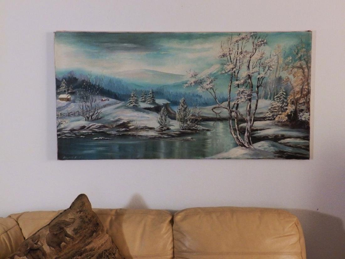 Mid Century FOOTHILL SNOWY RIVER Borghild Butts - 2