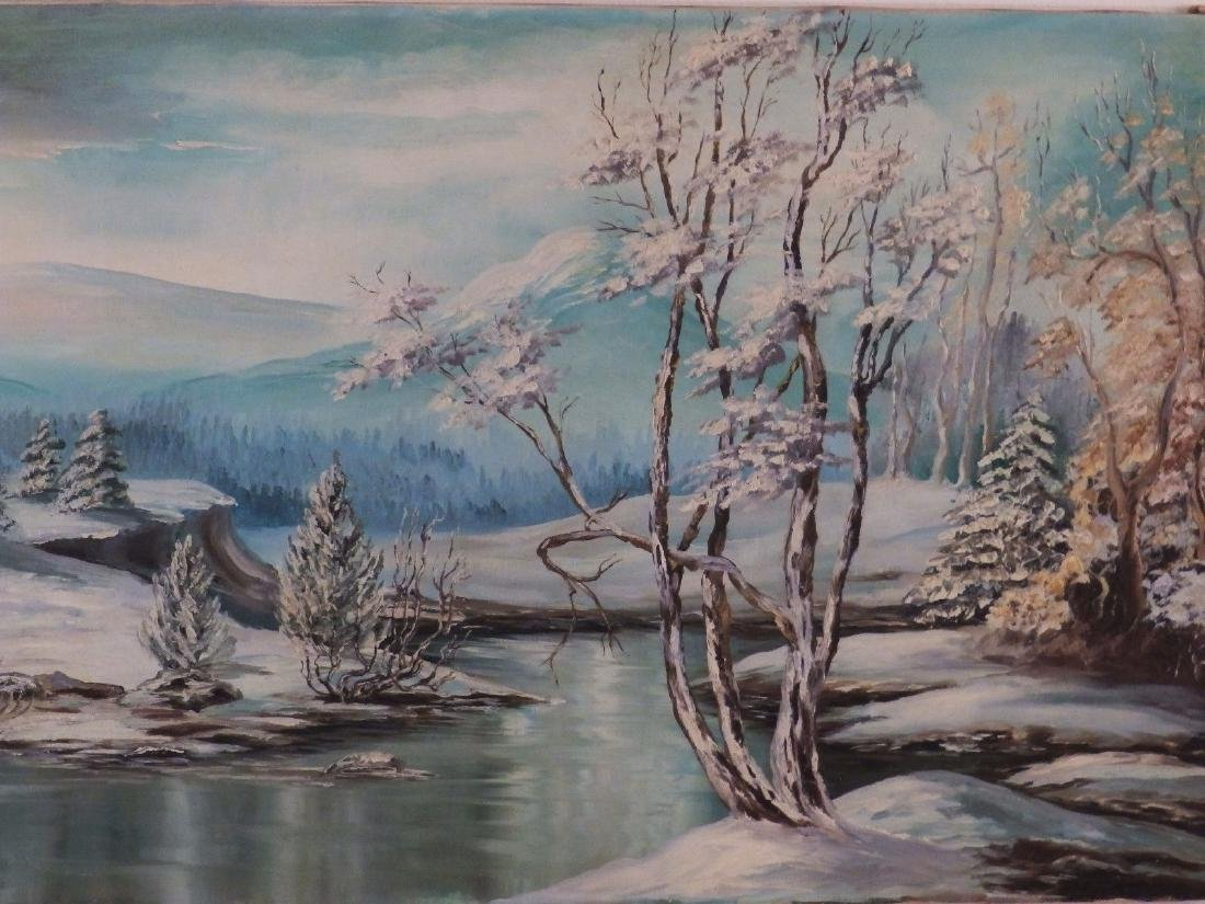 Mid Century FOOTHILL SNOWY RIVER Borghild Butts - 4