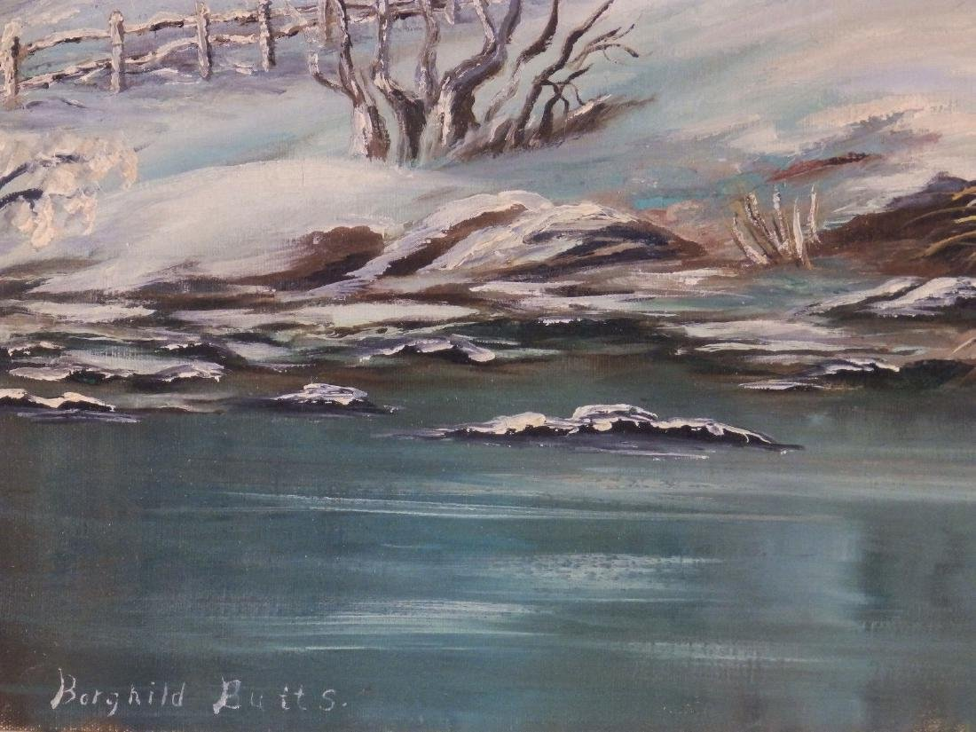 Mid Century FOOTHILL SNOWY RIVER Borghild Butts - 5