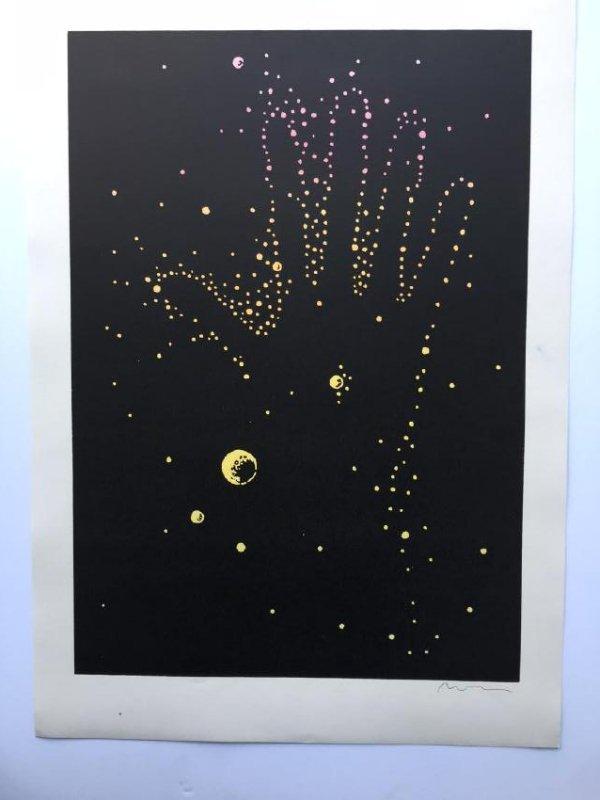 Uwe Henneken Print stars and hand 2012