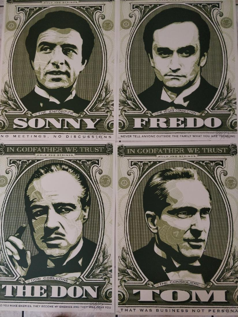 Shepard Fairey Godfather Prints Set, Matching #'s