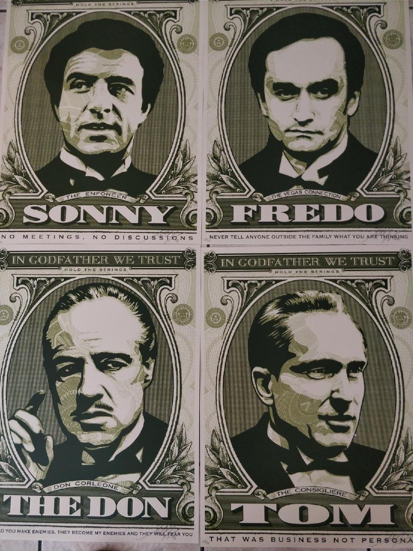 Shepard Fairey Godfather Prints Set, Matching #'s