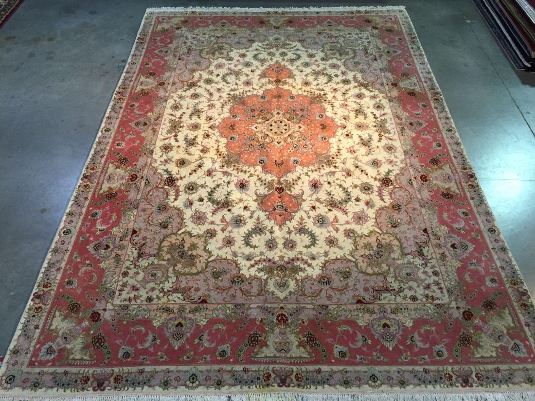 Magnificent Silk &wool Persian Tabriz Rug 8.2x12