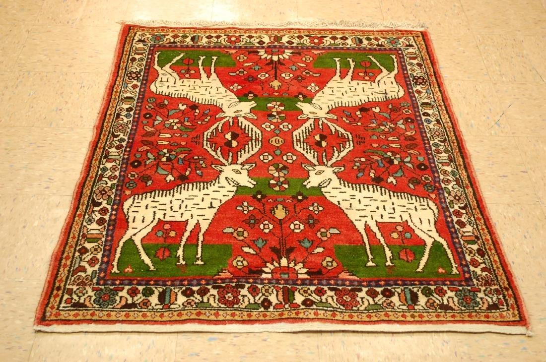 Animal Subject Persian Malayer Village Woven Rug