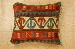 Fine Antique Caucasian Rug Very Soft Wool Pillow