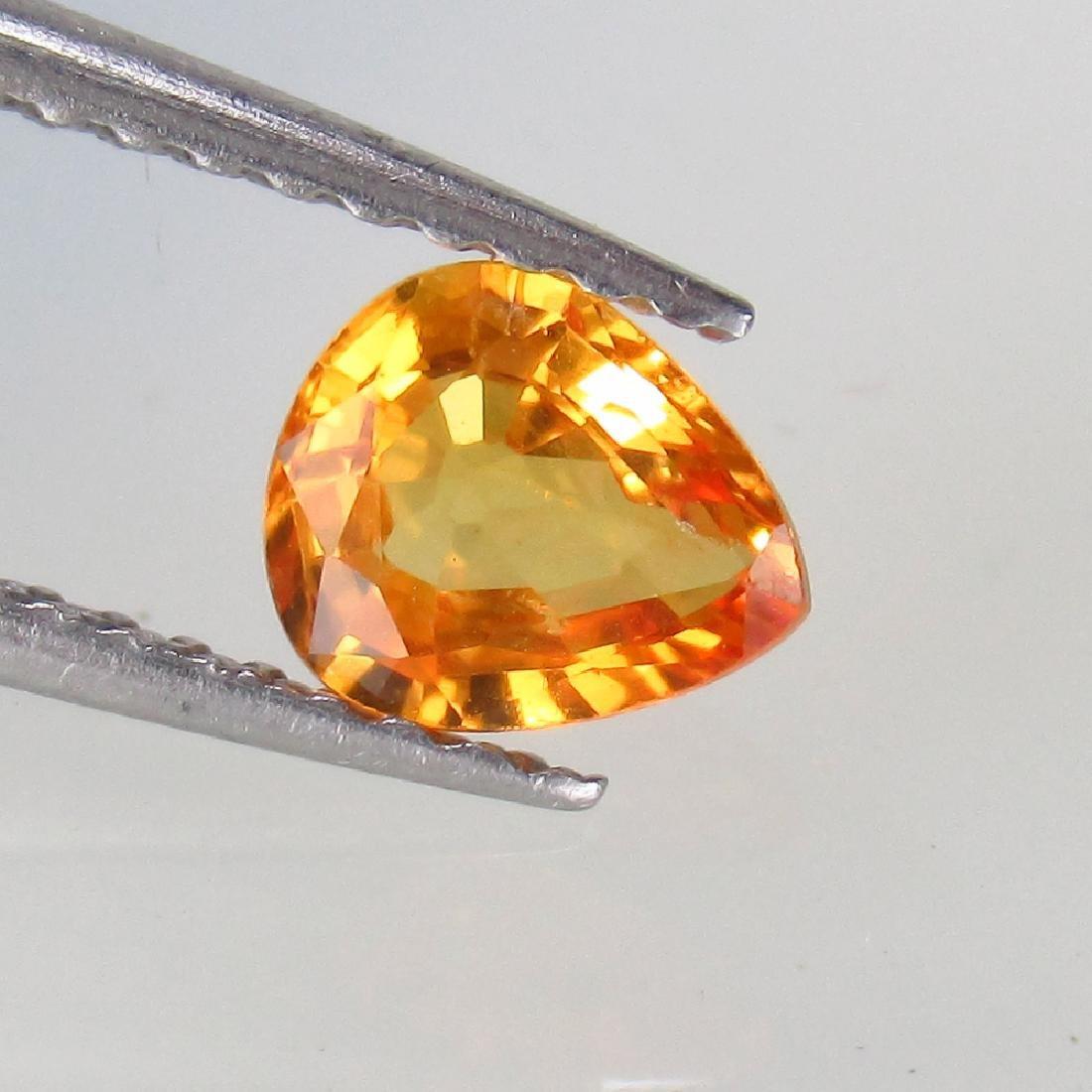 0.65 Ct Genuine Ceylon Orange Sapphire 6X5 mm Pear cut