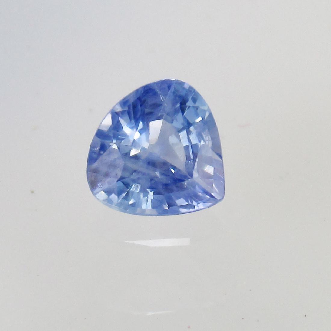 0.66 Ct Genuine Ceylon Blue Sapphire Nice Pear cut