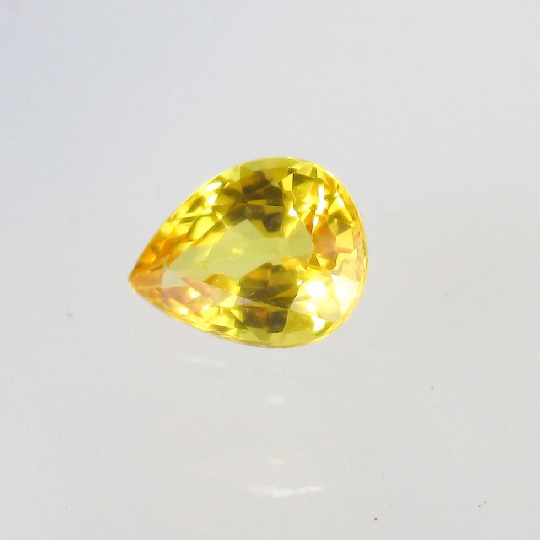 0.65 Ct Genuine Ceylon Yellow Sapphire Nice Pear cut