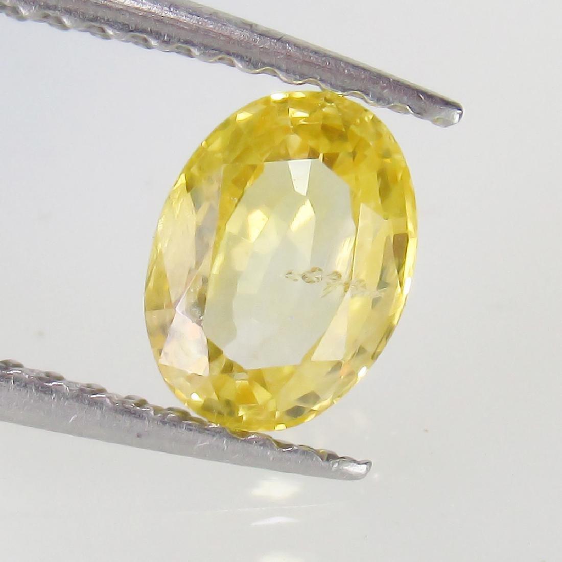 1.15 Ct Genuine Ceylon Yellow Sapphire 6.7X5 mm Oval
