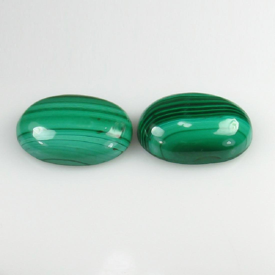 27.30 Ct Genuine Loose Malachite 18X13 mm Oval Matching - 2