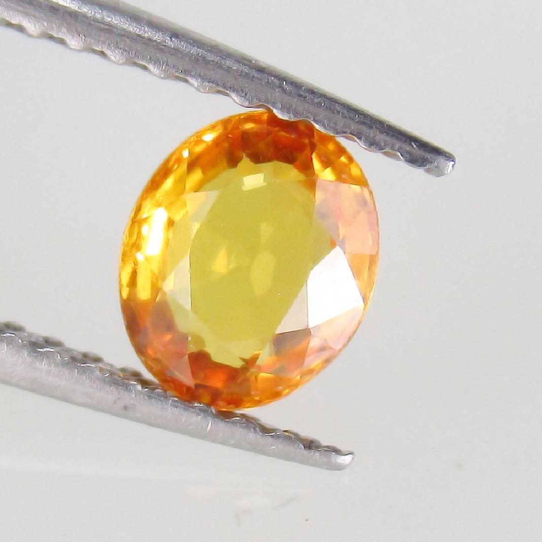 0.77 Ct Genuine Ceylon Orange Sapphire 6X5 mm Oval cut