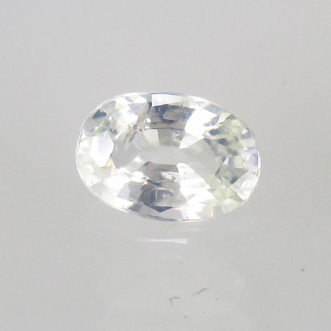 0.68 Ct Genuine Ceylon White Sapphire Nice Oval Cut