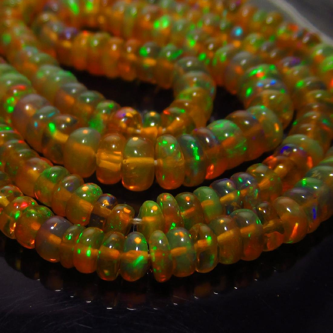 28.64 Ct Genuine 237 Drilled Opal Beads Multi-Color - 4