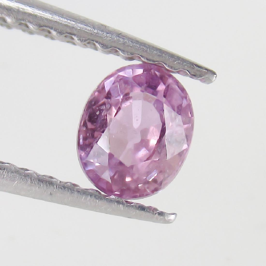 0.49 Ct Genuine Ceylon Violet Sapphire 5X4 mm Oval Cut
