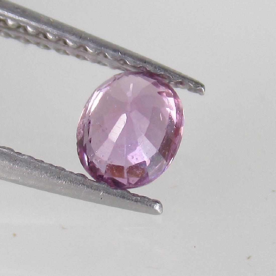 0.49 Ct Genuine Ceylon Violet Sapphire 5X4 mm Oval Cut - 2