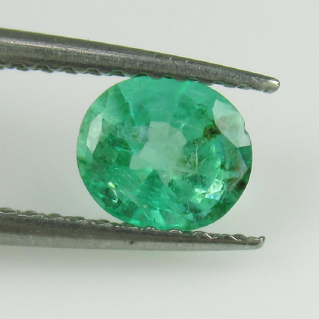 0.64 Ct Genuine Loose Zambian Emerald Nice Oval Cut