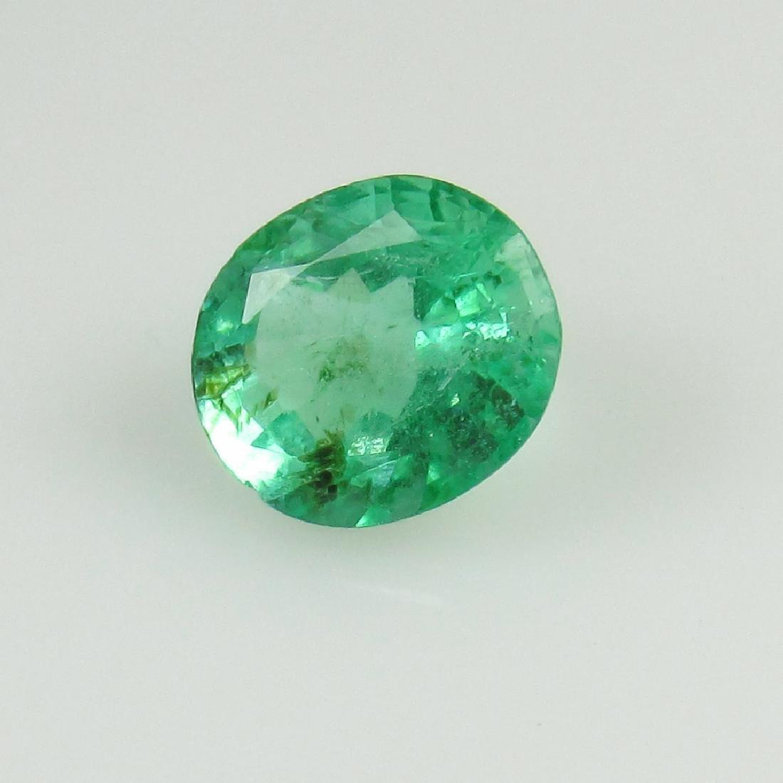 0.64 Ct Genuine Loose Zambian Emerald Nice Oval Cut - 2