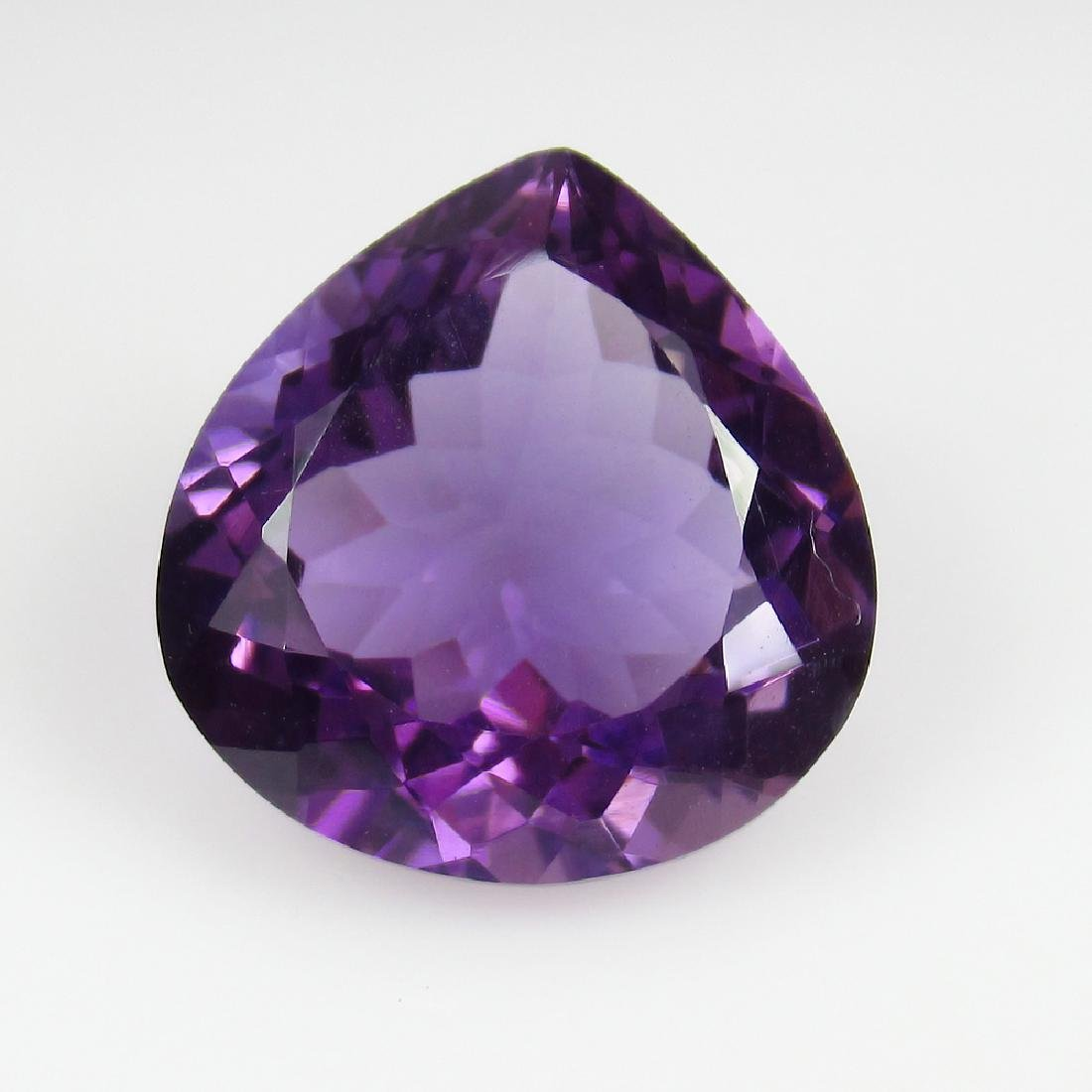 10.24 Ct Genuine Loose Amethyst Excellent Pear Cut