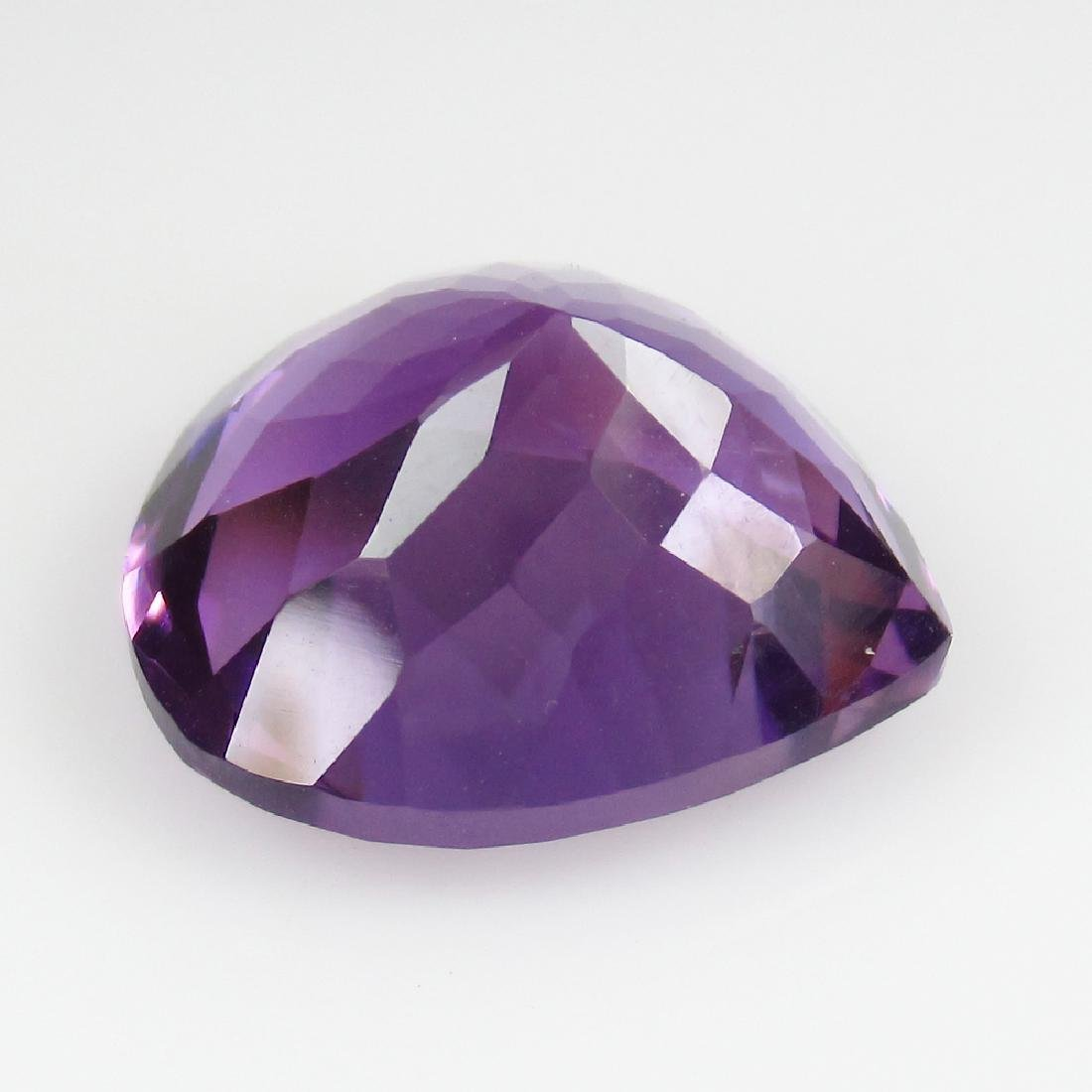 10.24 Ct Genuine Loose Amethyst Excellent Pear Cut - 2