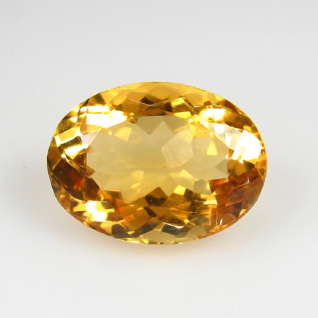5.47 Ct Genuine Loose Citrine Excellent Oval Cut