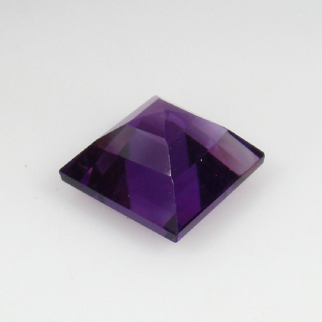 3.17 Ct Genuine Loose Deep Purple Amethyst 8.8 mm - 2