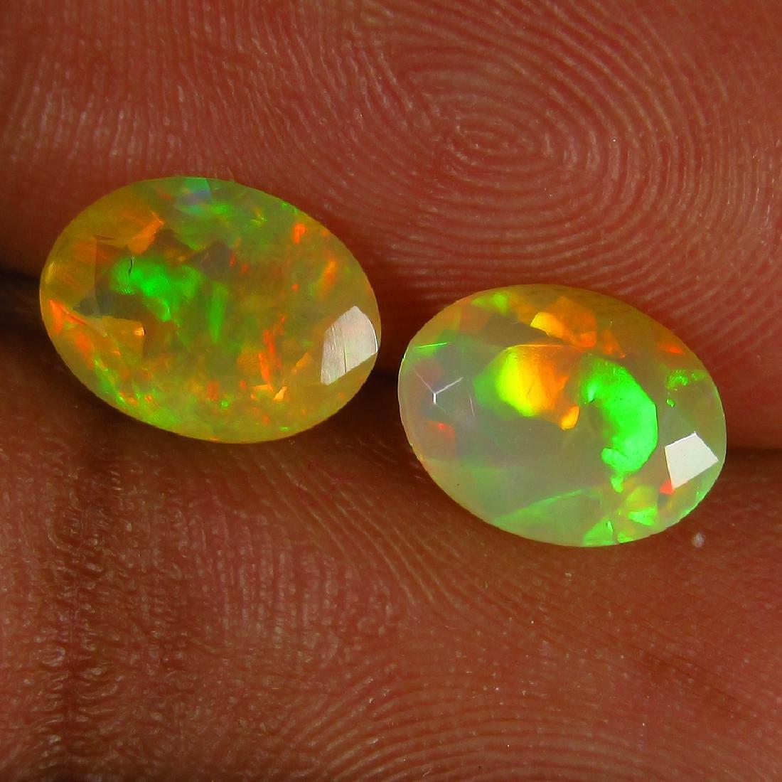 1.41 Ct Genuine Ethiopian Multi-Color Fire Faceted Opal