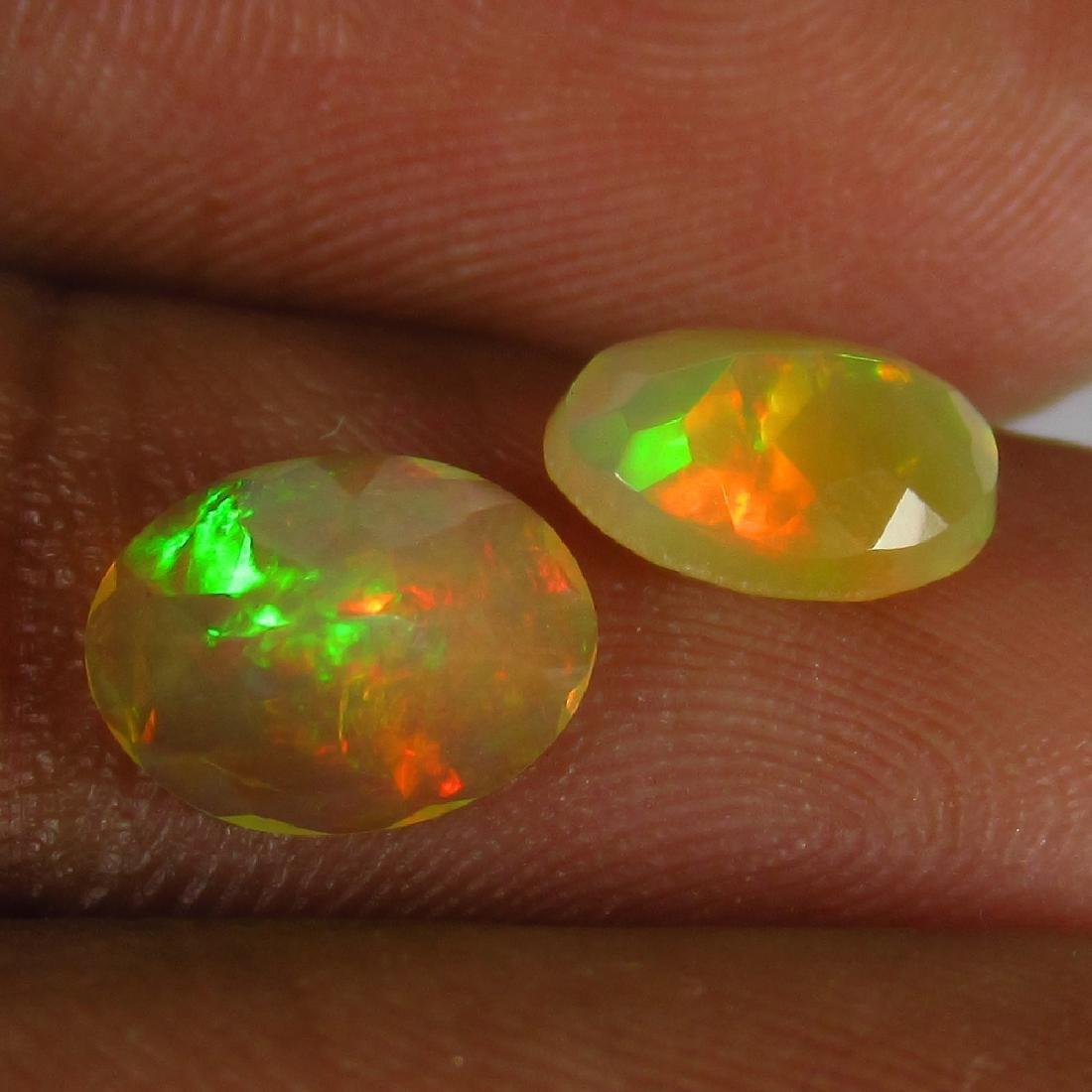 1.41 Ct Genuine Ethiopian Multi-Color Fire Faceted Opal - 2