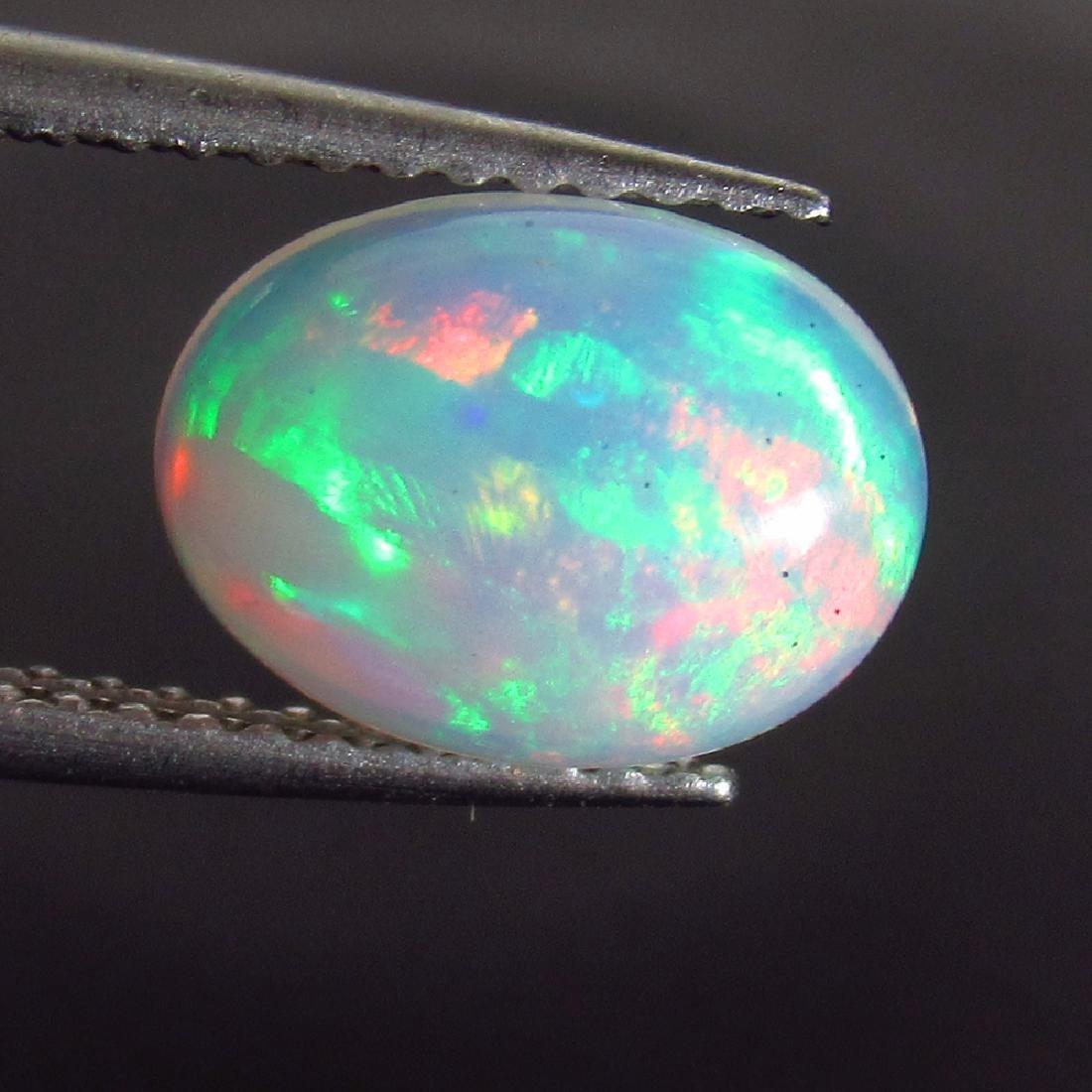 1.64 Ct Genuine Ethiopian Multi-Color Fire White Opal