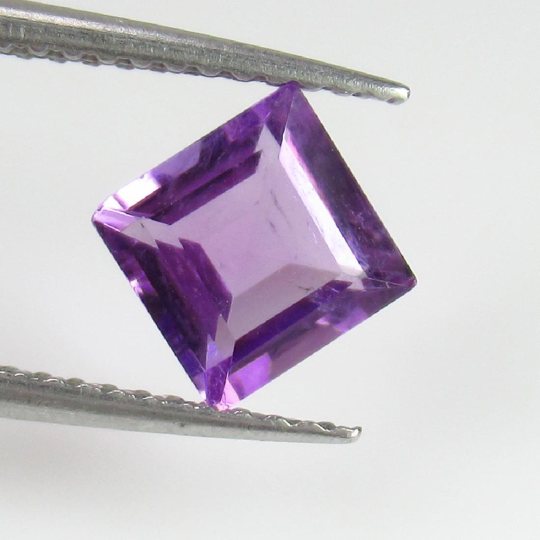 1.04 Ct Genuine Loose Purple Amethyst 6 mm Square Cut