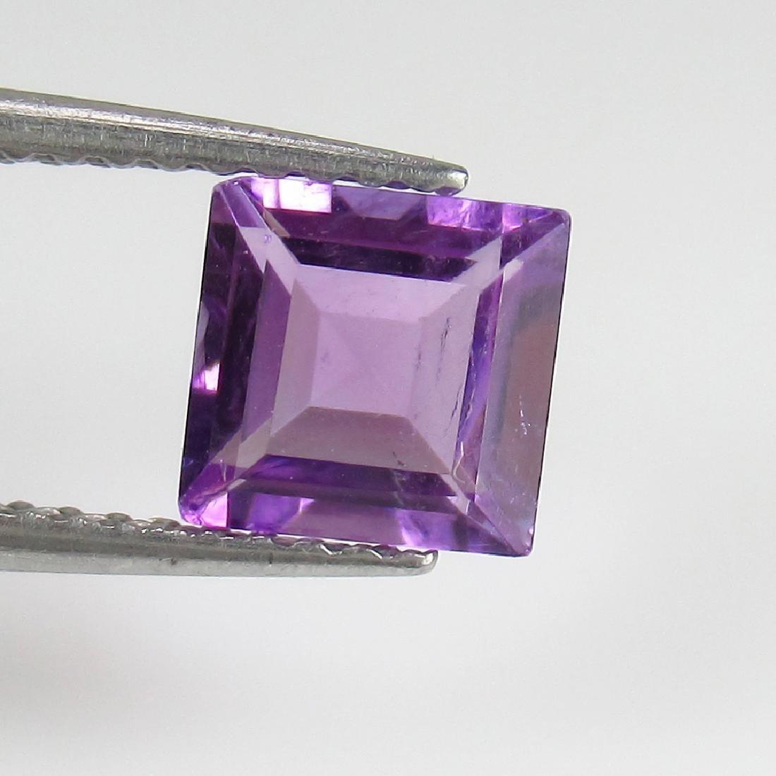 1.04 Ct Genuine Loose Purple Amethyst 6 mm Square Cut - 2