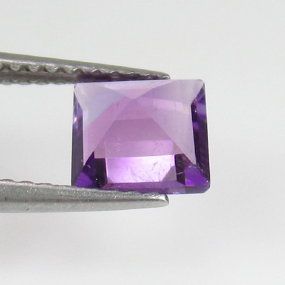 1.04 Ct Genuine Loose Purple Amethyst 6 mm Square Cut - 3