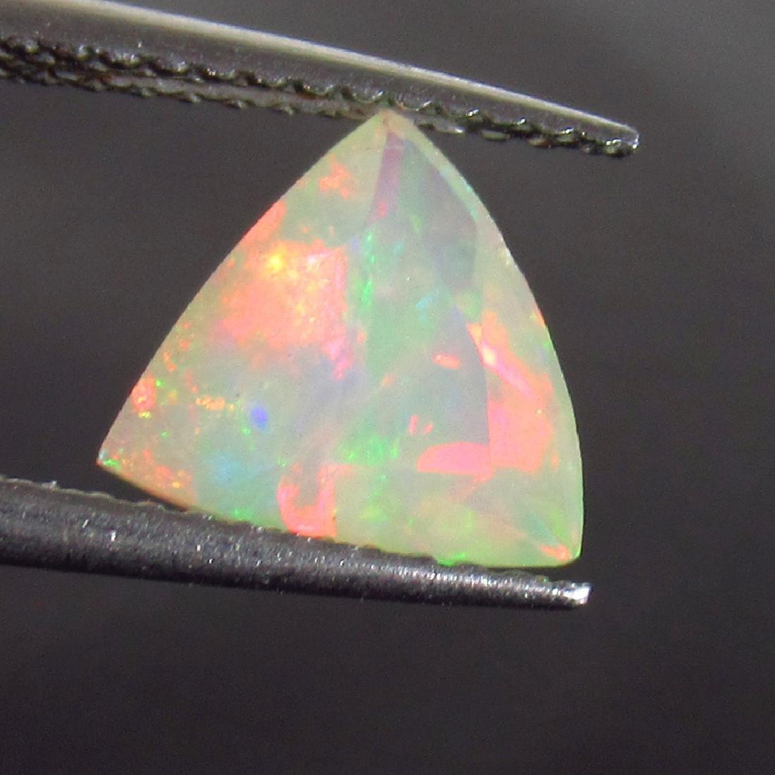 0.91 Ct Genuine Ethiopian Multi-Color Fire Faceted Opal