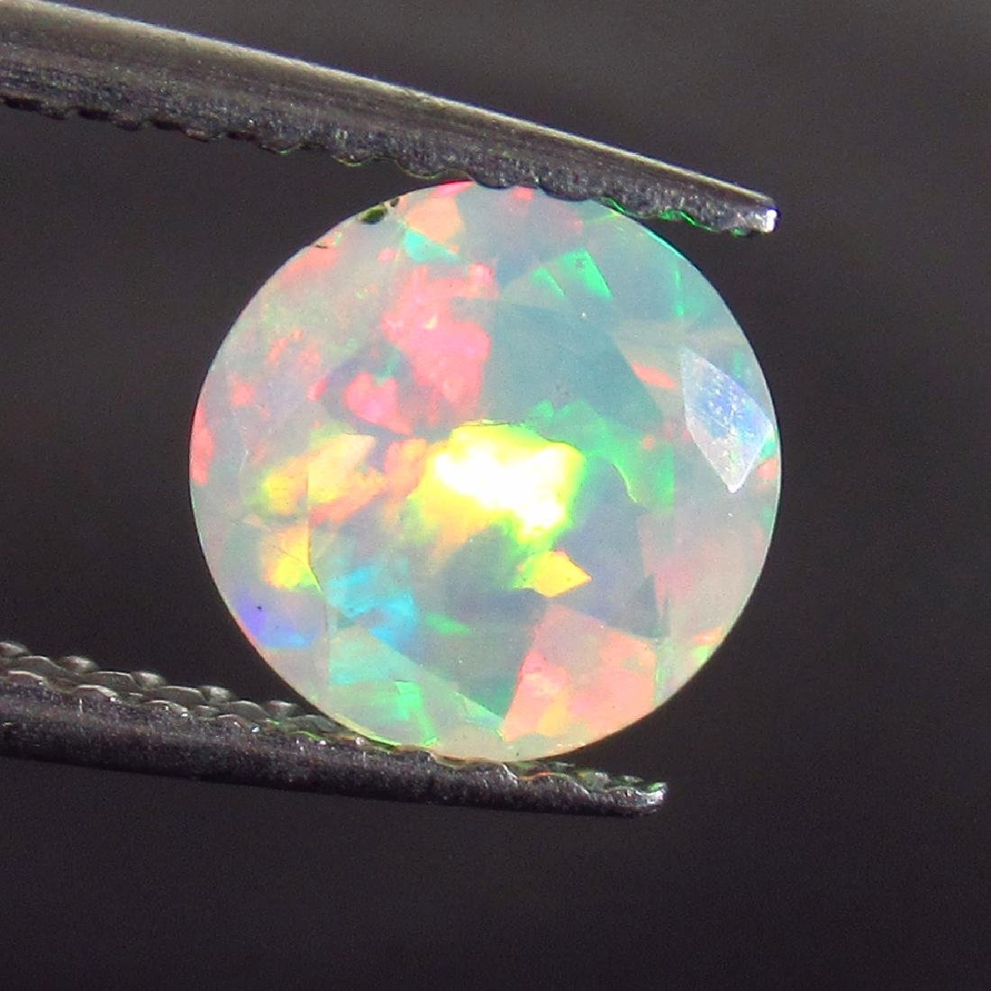 0.80 Ct Genuine Ethiopian Multi-Color Fire Faceted Opal