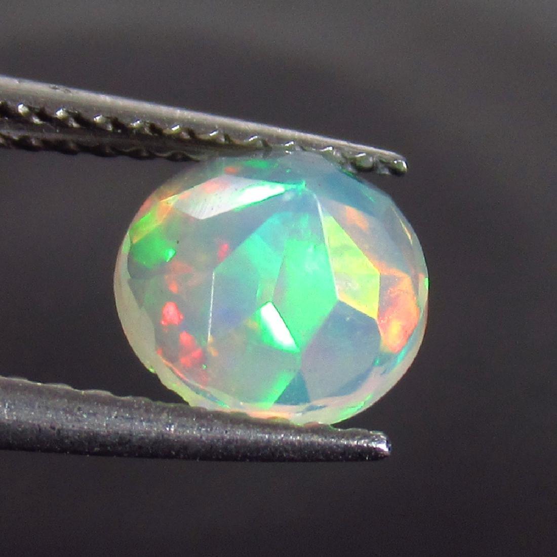 0.80 Ct Genuine Ethiopian Multi-Color Fire Faceted Opal - 2