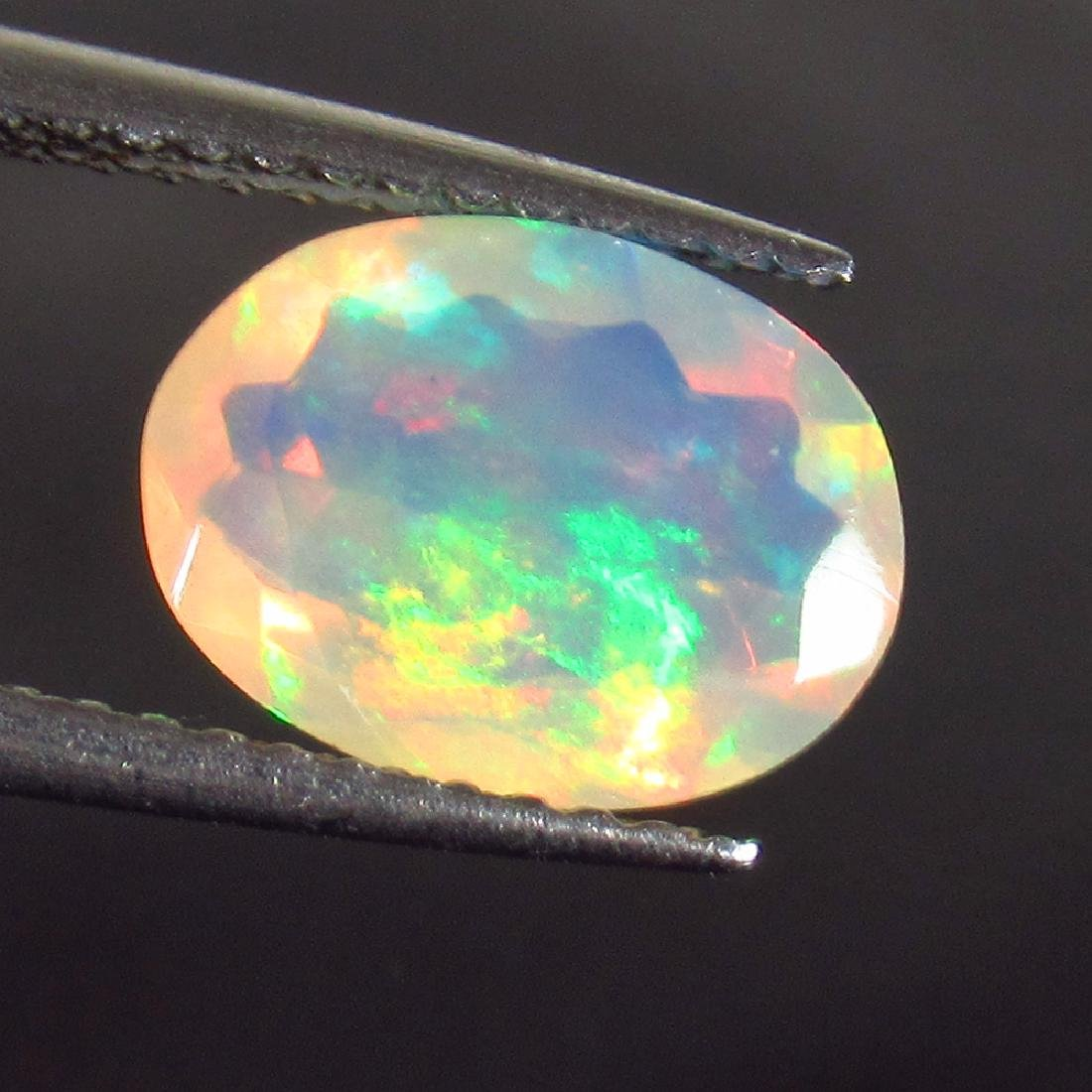 1.20 Ct Genuine Ethiopian Multi-Color Fire Faceted Opal